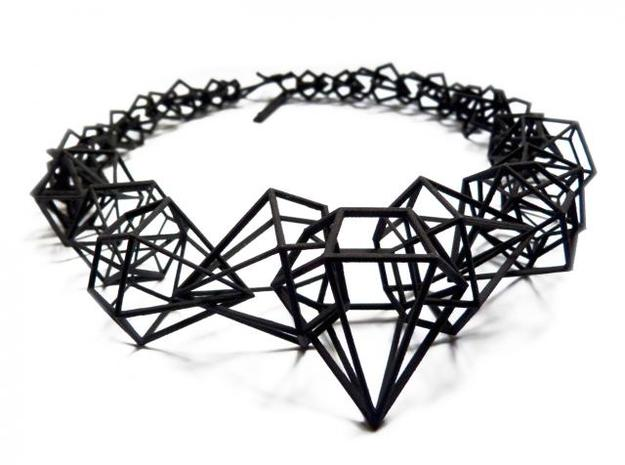 Stereodiamond Necklace 3d printed 1