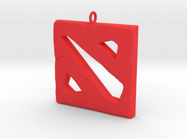 DOTA 2 Polygonal Logo Pendant Keychain Necklace