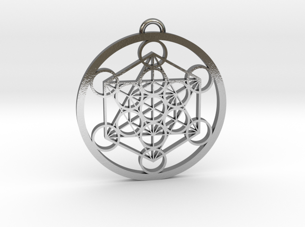 Metatron's Cube in Polished Silver