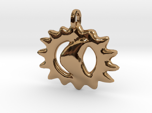 Commemorative 2017 Eclipse Pendant in Polished Brass