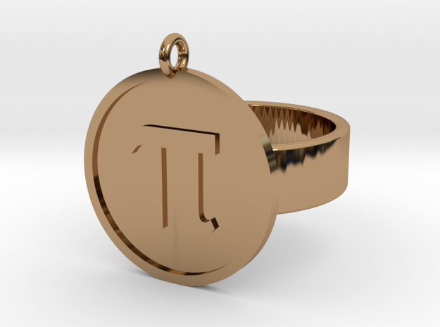 Pi Ring in Polished Brass: 10 / 61.5