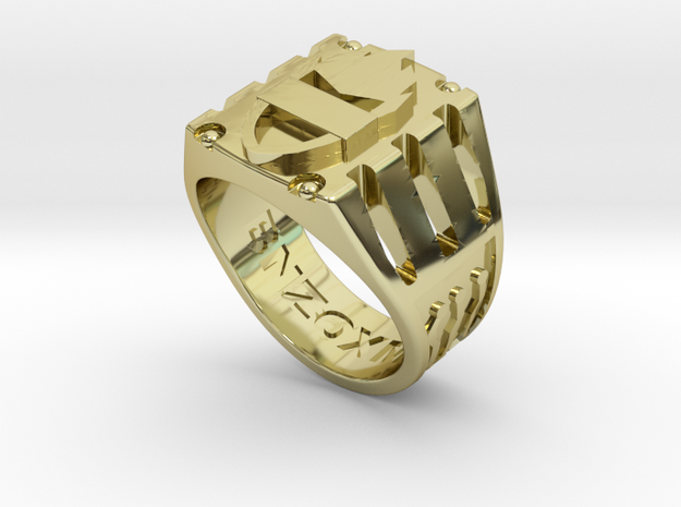 BNZO DGTL Ring 1 in 18k Gold Plated Brass: 9 / 59