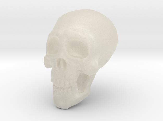 Tiny Skull in White Acrylic