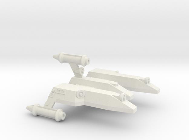 3788 Scale Lyran Serval War Cruiser Scout CVN in White Strong & Flexible