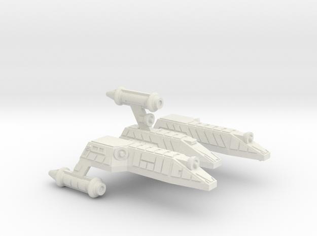 3125 Scale Lyran Serval War Cruiser Scout CVN in White Strong & Flexible