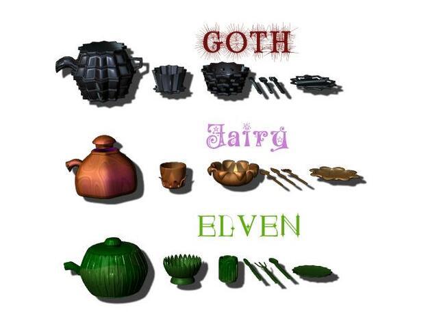 Fairy Tea Set 3d printed Description