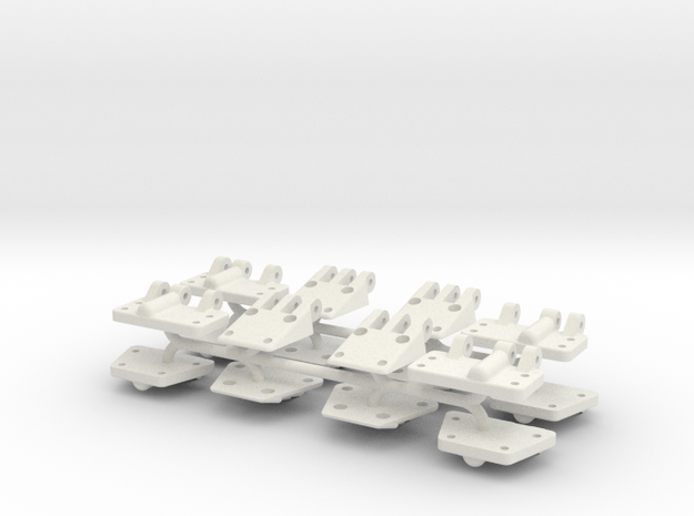 Hinges in White Natural Versatile Plastic