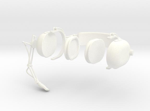 1.5 PILOT HEADSET CLARK in White Processed Versatile Plastic