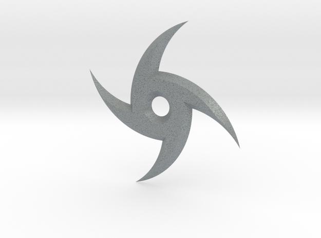 Spiral Ninja Star in Polished Metallic Plastic