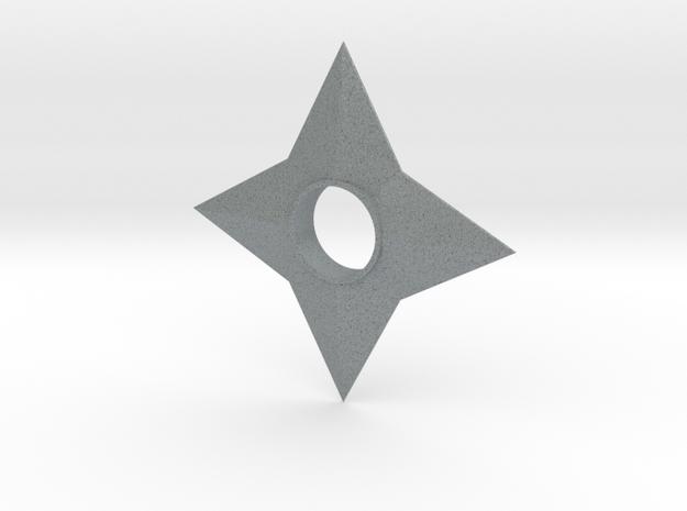 Shinobi Ninja Star in Polished Metallic Plastic