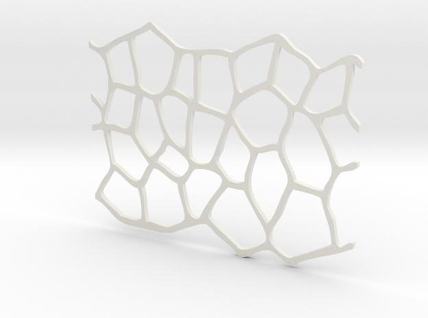 Texture stamp:  Flagstone  in White Natural Versatile Plastic