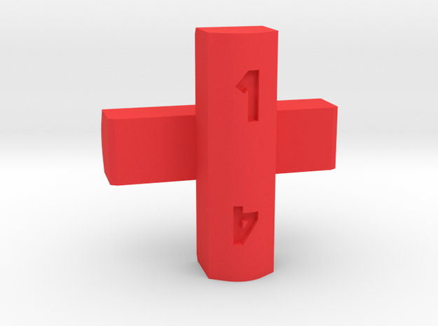 Cross d4 in Red Strong & Flexible Polished