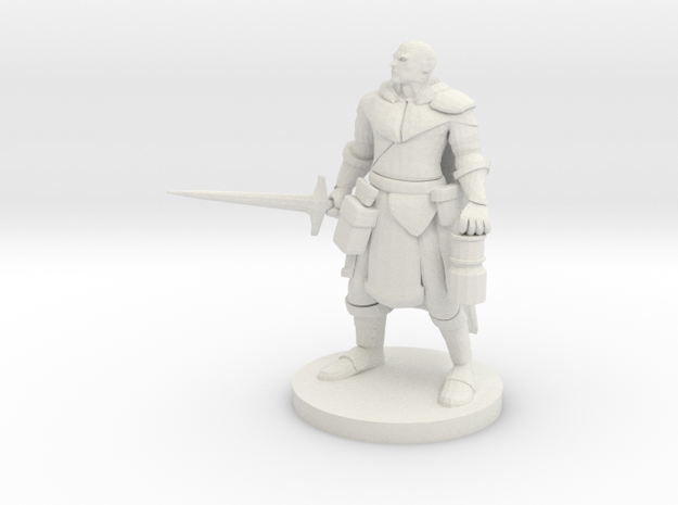 Mountain Warrior Paladin / Cleric in White Natural Versatile Plastic