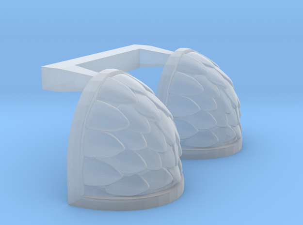 Scaled Shoulderpads in Smoothest Fine Detail Plastic