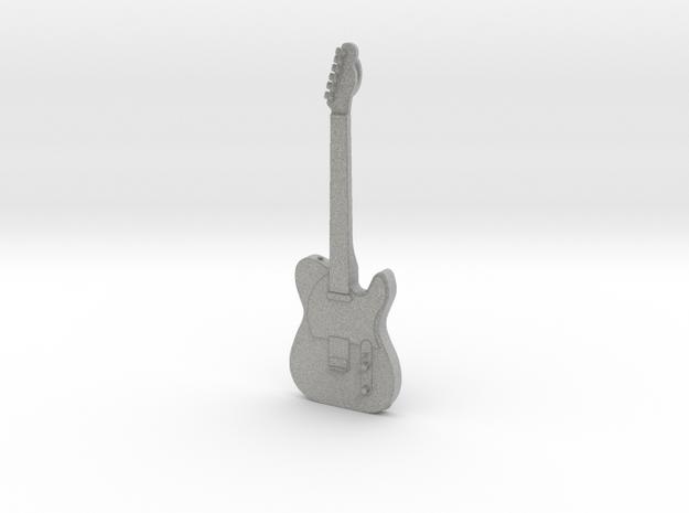Telecaster Guitar Pendant in Metallic Plastic