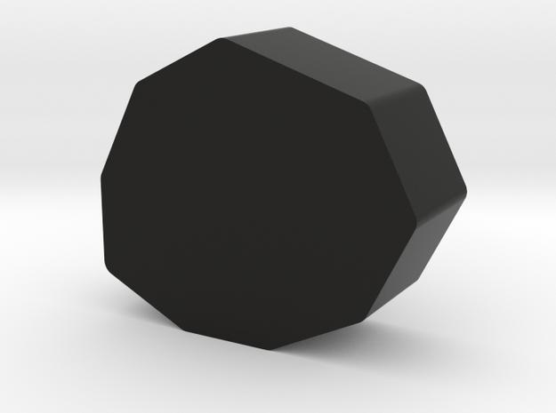 Stone Game Piece in Black Natural Versatile Plastic