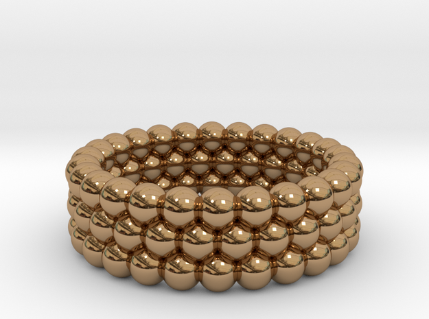 V4 - Ring in Polished Brass