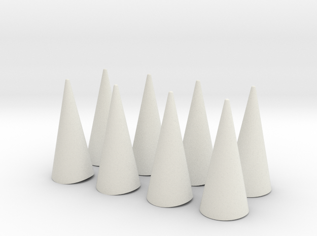 "Spikes Only - for bent cuff 2.5""x1.5"" in White Natural Versatile Plastic"