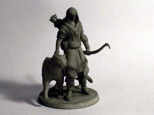 Elven Archer / Beastmaster (Large) 3d printed Front - Painted with black wash