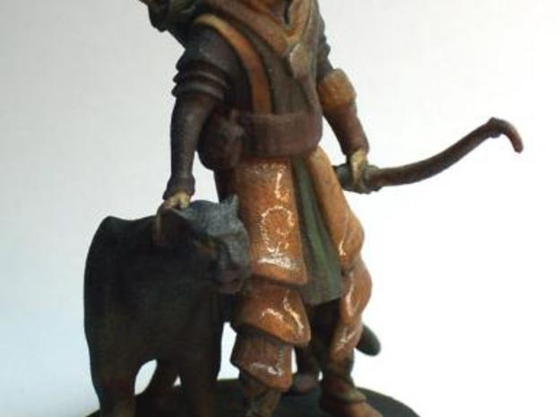 Elven Archer / Beastmaster (Large) 3d printed Painted