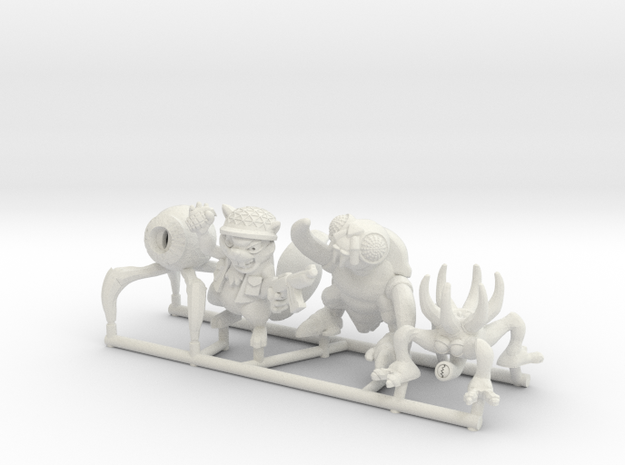 Mutant Squad (Set of 4) in White Strong & Flexible: Medium