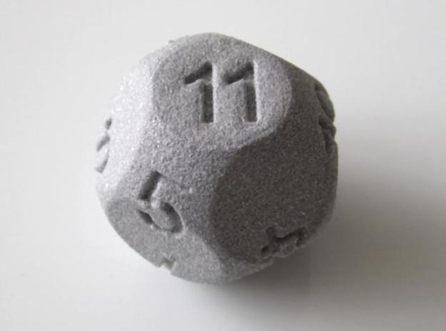 D11 Sphere Dice in Metallic Plastic