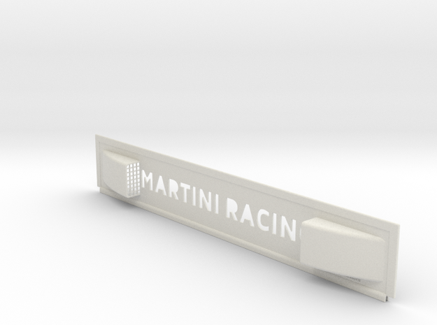 "Lancia Delta 1 ""Martini Racing"" window Shield 3 in White Natural Versatile Plastic"