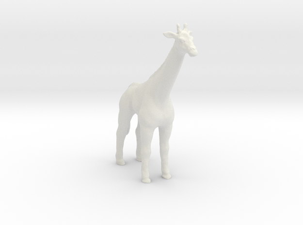 Printle Thing Giraffe - 1/76 in White Natural Versatile Plastic