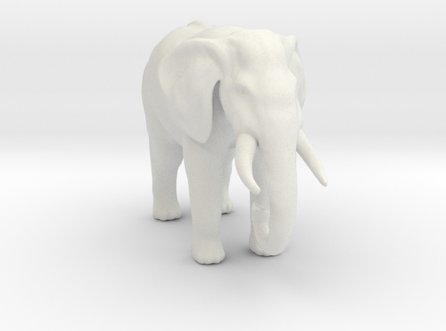 Printle Thing Elephant - 1/43.5 in White Natural Versatile Plastic