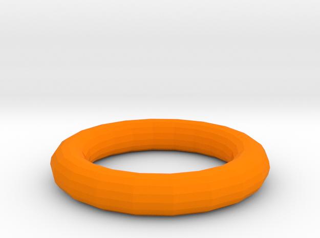 Torus in Orange Processed Versatile Plastic