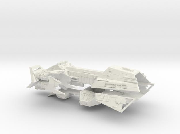 1/1000 Zann Consortium Interceptor IV Frigate in White Natural Versatile Plastic