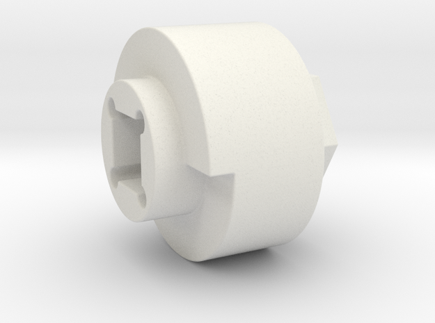 DX4 wheel adapter BS=20mm in White Natural Versatile Plastic