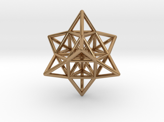 Pendant_Cuboctahedron_Star_without eyelet in Polished Brass
