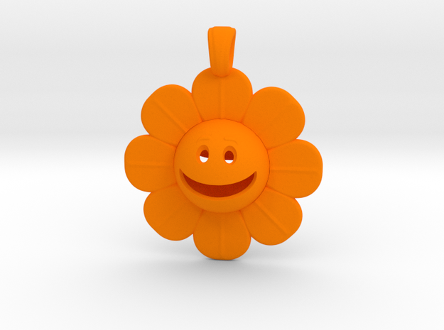 01 - Smiley Face/ DAISY in Orange Strong & Flexible Polished