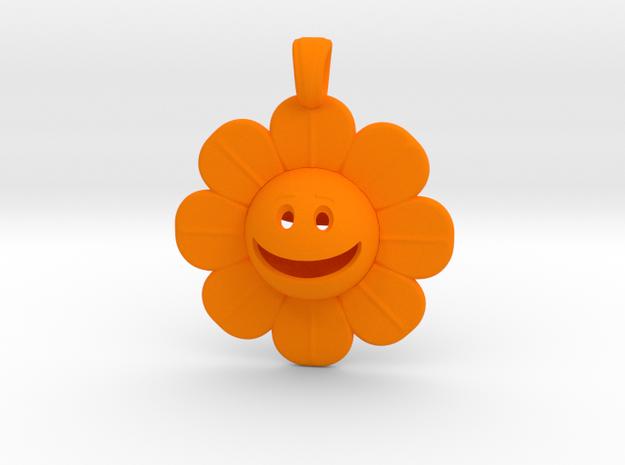 01 - Smiley Face/ DAISY in Orange Processed Versatile Plastic