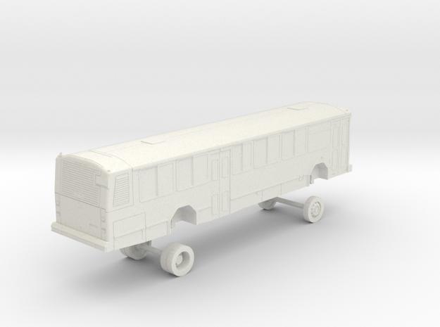 HO Scale Bus Gillig Phantom Capital Metro 1100s in White Natural Versatile Plastic