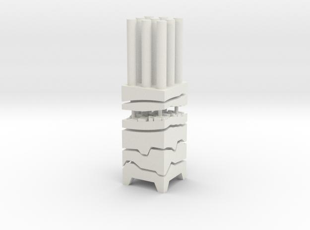 "BK-07: ""Bidirectional Core Sample"" AGENCY-AGENCY in White Natural Versatile Plastic"