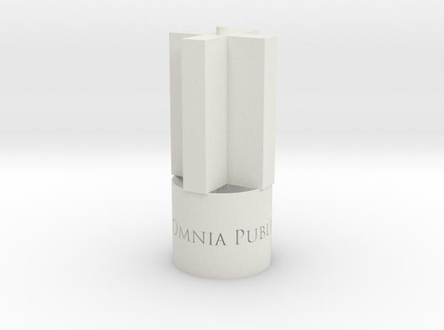 "BK-16: ""Aestimamus Omnia Publica"" by P.R.O. in White Natural Versatile Plastic"