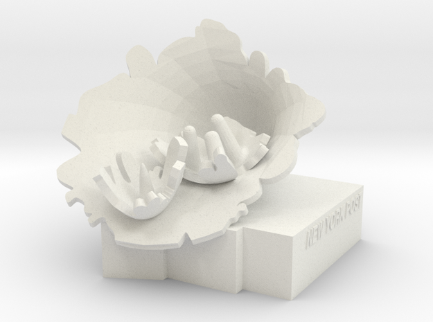 "BX-01: ""Exploded Fortress of Solitude"" by Lydia Xy in White Natural Versatile Plastic"