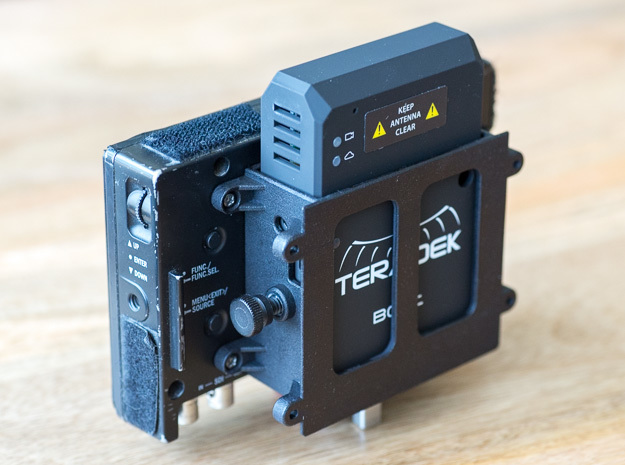 Teradek Bolt Pro Bracket (Fanless RX) for TV Logic in Black Strong & Flexible