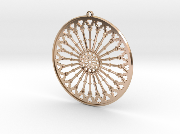 Pendant Siena in 14k Rose Gold Plated Brass