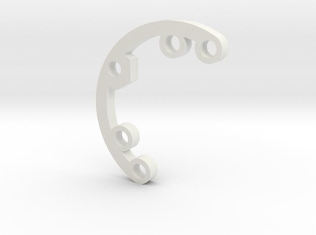 A series Rad FIn 1 in White Natural Versatile Plastic