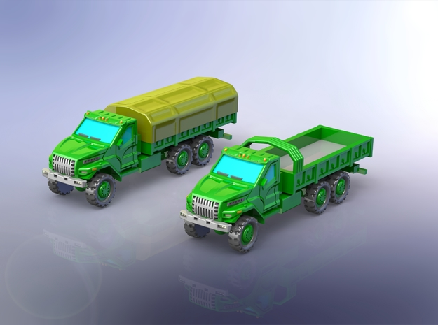 Russian GAZ Ural Next Truck 1/160 N-Scale in Frosted Ultra Detail