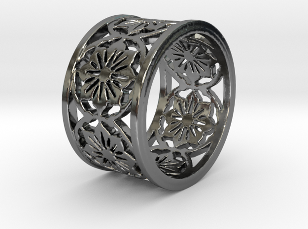 VICTORIA Ring Design Ring Size 8 in Fine Detail Polished Silver: 6 / 51.5