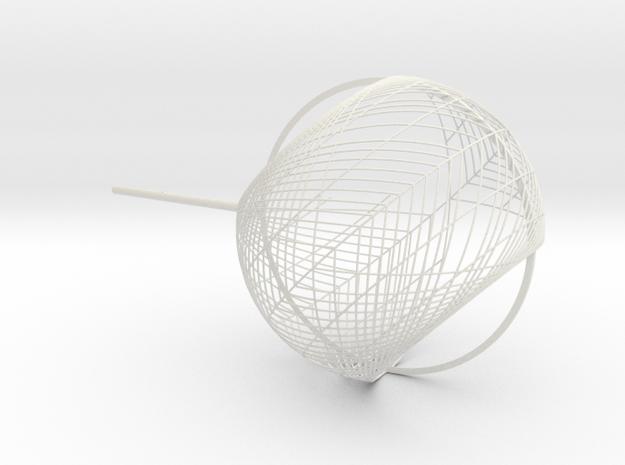 Chandelier Bulb 11 in White Natural Versatile Plastic