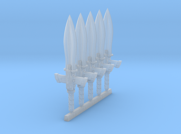 Techno-Gladius (x5) in Smooth Fine Detail Plastic