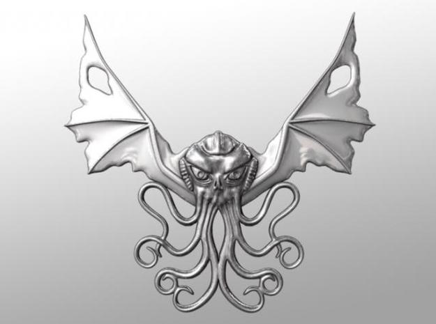 Winged Cthulhu Necklace 3d printed Front