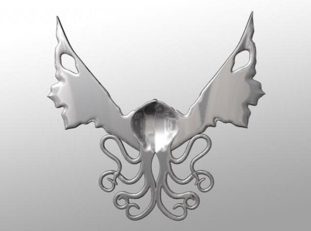Winged Cthulhu Necklace 3d printed Back