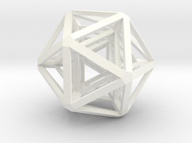 Icosahedron x 3 in White Processed Versatile Plastic