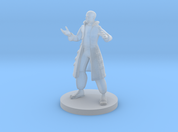 Human Male Sorcerer in Smooth Fine Detail Plastic